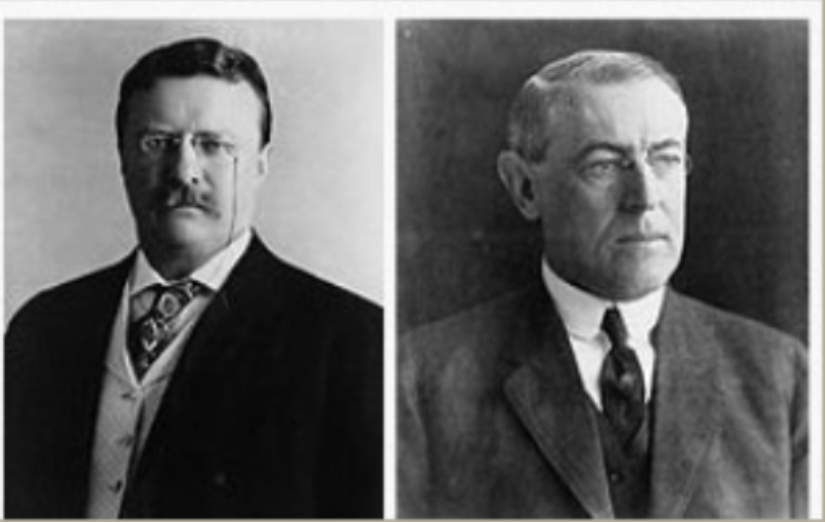Theodore Roosevelt and Thomas Woodrow Wilson in United States Policy